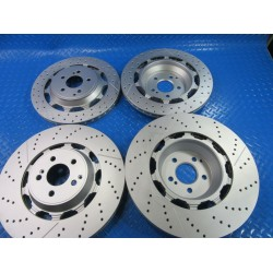 Mercedes W222 S63 S65 Amg front and rear brake disc rotors TopEuro #7302