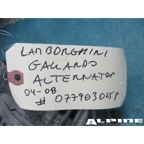 Lamborghin Gallardo alternator
