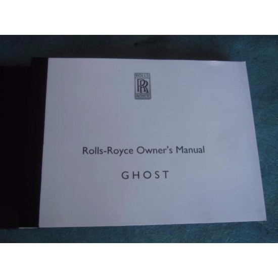 2010 Rolls Royce Ghost Owners Manual CD