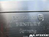 Bentley Continental Flying Spur left rear door sill trim emblem plate