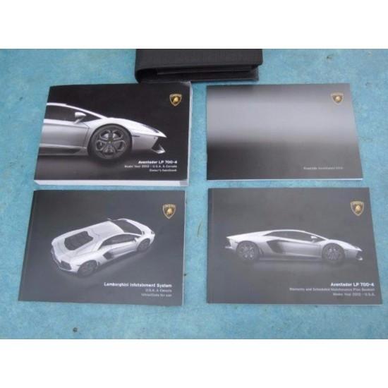 Lamborghini Aventador Owners Manual Handbook