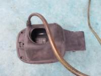 Bentley Continental Flying Spur fuel flap filler gas tank door black