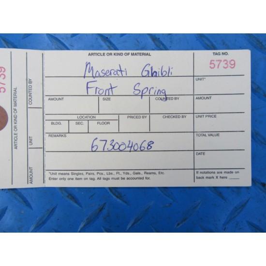 Maserati Ghibli front suspension strut springs #5739