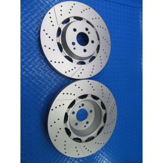 Mercedes S63 S65 Amg front brake rotors 2pcx TopEuro #7304