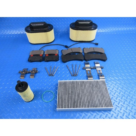 Maserati Ghibli S Sq4 Quattroporte front rear brake pads & oil air filters #7346
