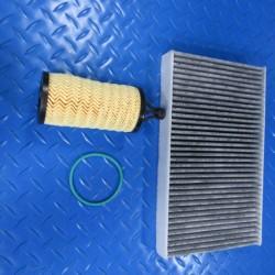 Maserati Ghibli Quattroporte V6 3.0 engine oil cabin pollen filter #6722