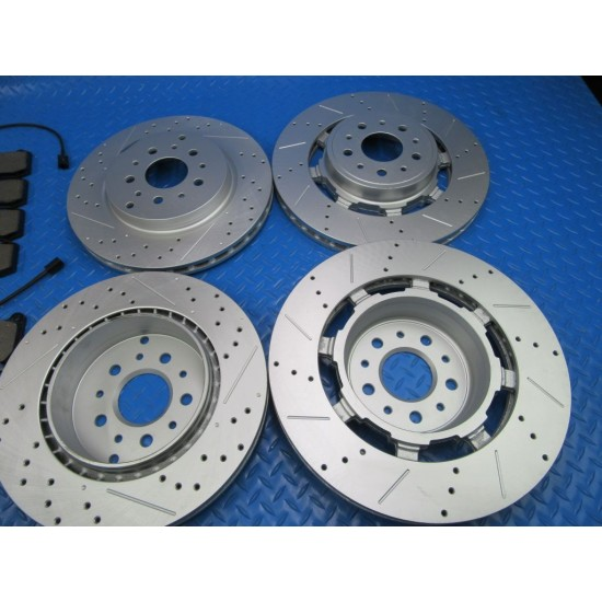 Maserati GranTurismo Gt front rear brake pads and rotors TopEuro #7349