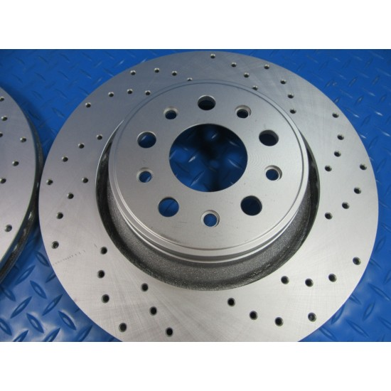 Maserati Levante S front rear brake pads and rotors drilled TopEuro #7355