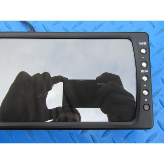 "Security rear view mirror with 6"" display screen monitor PAL NTSC #5389"
