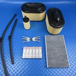 Maserati Ghibli Quattroporte Levante spark plugs oil air cabin filters wiper blades #7053