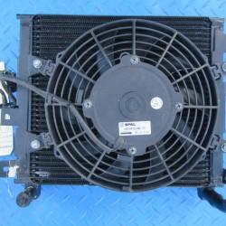 Bentley Arnage left radiator intercooler with fan #7467