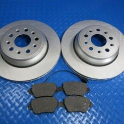 Maserati Ghibli Base Quattroporte rear brake pads and disk rotors smooth #6569