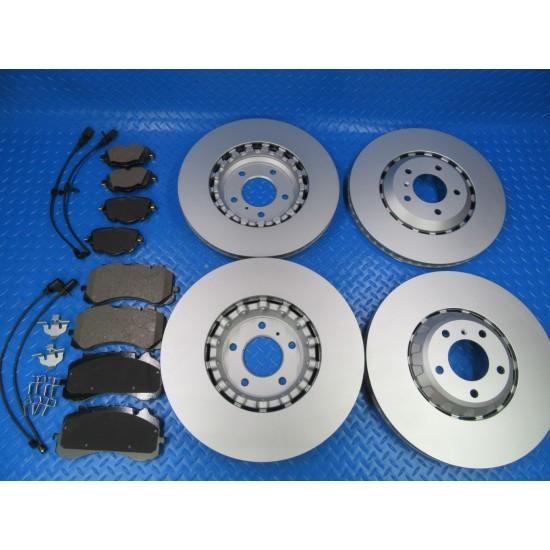 Bentley Bentayga front rear brake pads and rotors TopEuro #7389