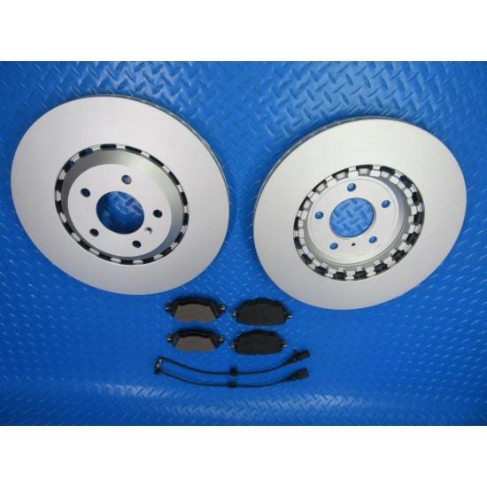 Bentley Bentayga rear brake pads and rotors TopEuro #7395